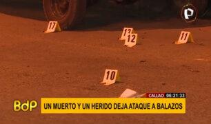 Dos personas fueron atacadas a balazos en el Callao