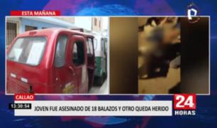 Callao: joven fue asesinado de 18 balazos y otro queda herido