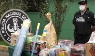 SMP: juguetería era utilizada de fachada para venta clandestina de pirotécnicos