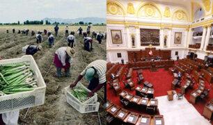 Congreso: Reacciones tras aprobación de la nueva ley del régimen laboral agrario