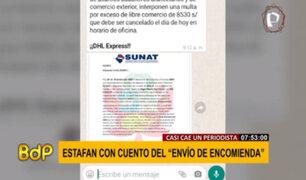 """Periodista casi cae en estafa con cuento del """"Envio de encomienda"""""""