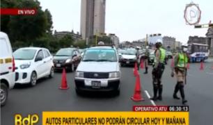 Policía de Tránsito controla circulación de vehículos por Año Nuevo