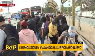 Ciudadanos siguen viajando al sur de Lima por Año Nuevo