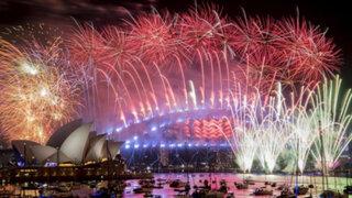 Así celebró Australia la llegada del nuevo año