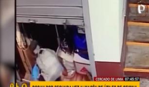 Cercado: roban por segunda vez un almacén de útiles escolares