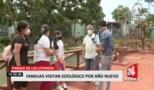 San Miguel: familias visitan Parque de las Leyendas por Año Nuevo