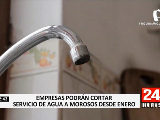 Empresas que brindan agua potable podrán cortar servicio a clientes morosos