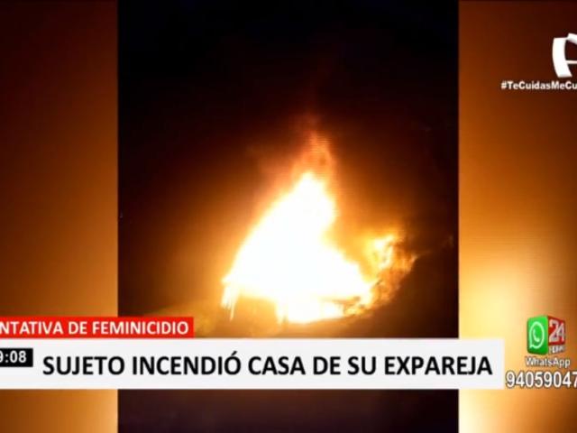 VMT: mujer acusa a su expareja de incendiar su vivienda por no querer retomar la relación