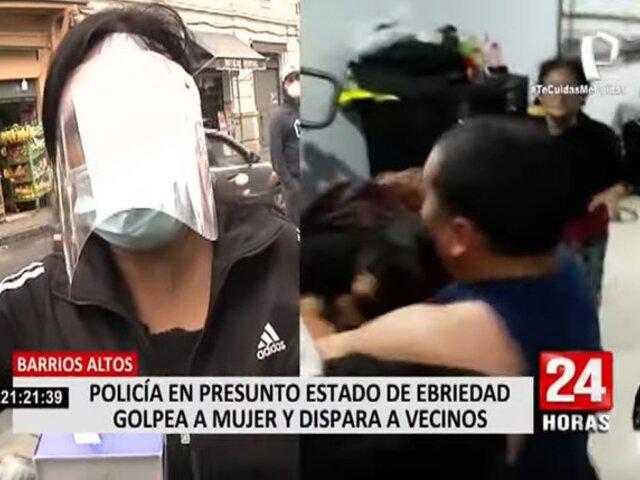Barrios Altos: policía en presunto estado de ebriedad golpea a dos mujeres y dispara a vecinos
