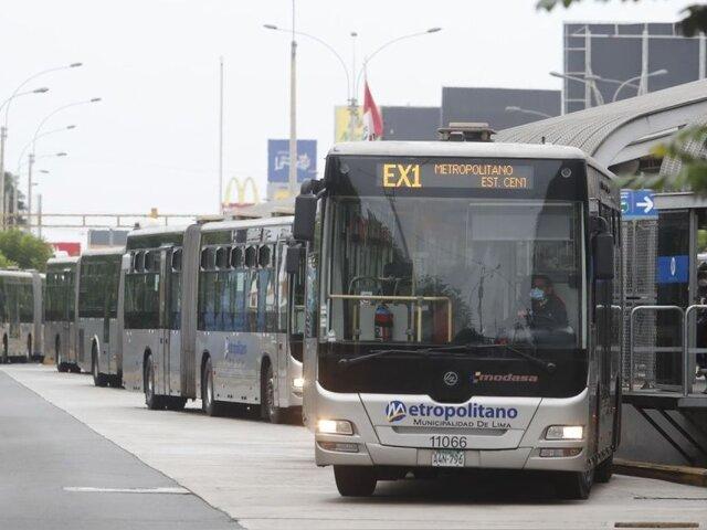 Metropolitano: esta es la única ruta del turno mañana tras paralización de concesionarios