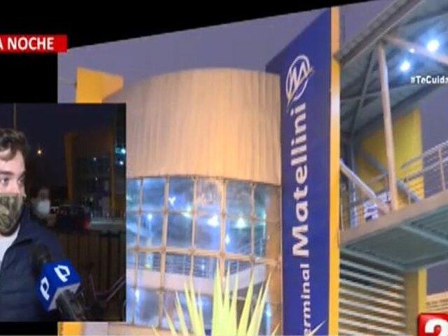 Servicio del Metropolitano continuó restringido durante el turno noche