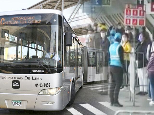 Se normaliza el servicio del Metropolitano en todas sus estaciones