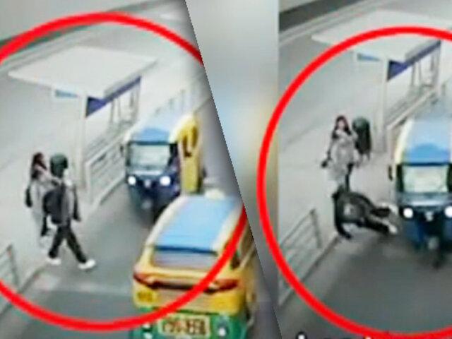 Mototaxista atropella a joven y se da a la fuga