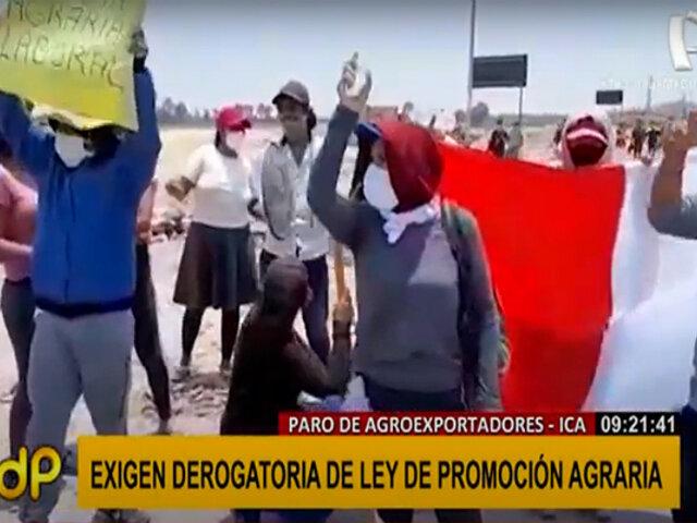 Paro de agroexportadores: Ministros de Trabajo y Agricultura viajarán a Ica