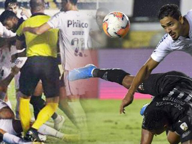 Copa Libertadores: Final con golpes y expulsados en el Santos vs. Liga de Quito