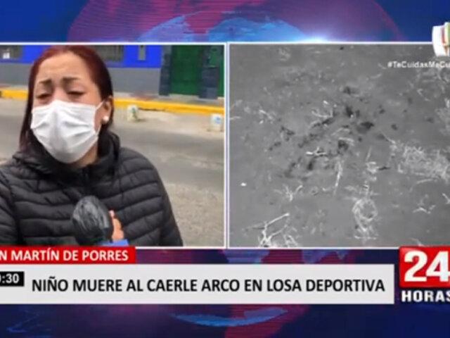 SMP: niño de 11 años falleció tras caerle arco de fútbol en la cabeza