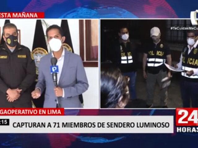 ¡Megaoperativo! Policía Nacional capturaron a 71 miembros de Sendero Luminoso