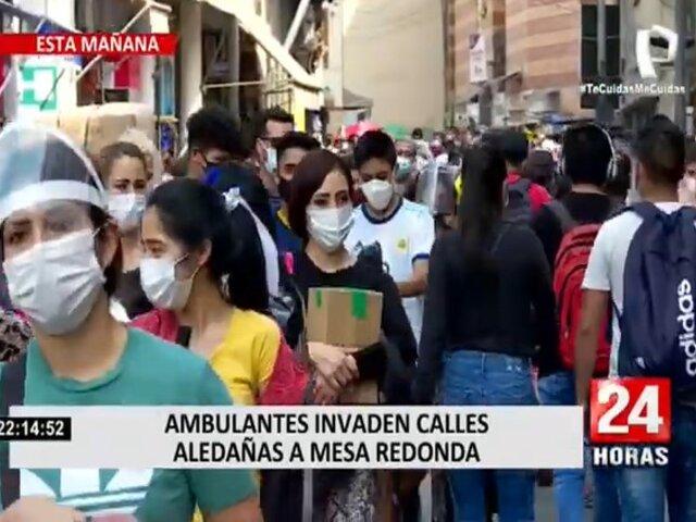 Jorge Muñoz pide apoyo de la Policía para resguardar Mesa Redonda ante aumento de ambulantes