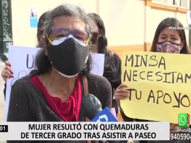 Familiares de mujer que sufrió quemaduras de tercer grado denuncian que no quieren atenderla