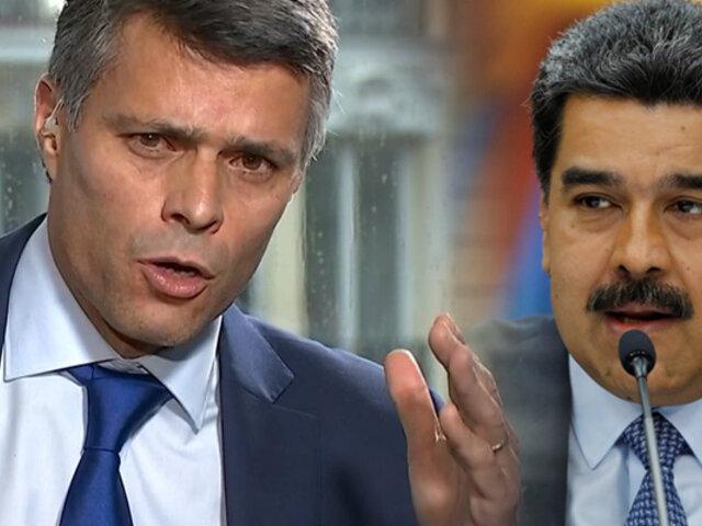 """Leopoldo López: """"Elecciones del 6 de diciembre en Venezuela son un fraude"""""""