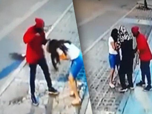 Mujer es violentamente asaltada en Comas