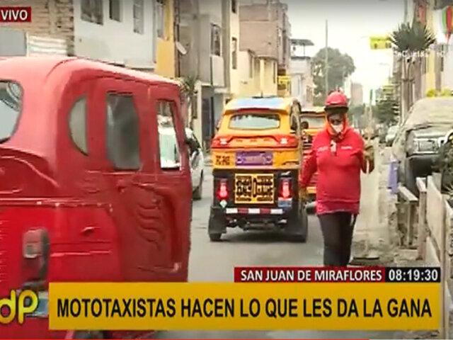 """Sin ley: mototaxistas no cumplen con normas de tránsito y hacen """"lo que quieren"""""""