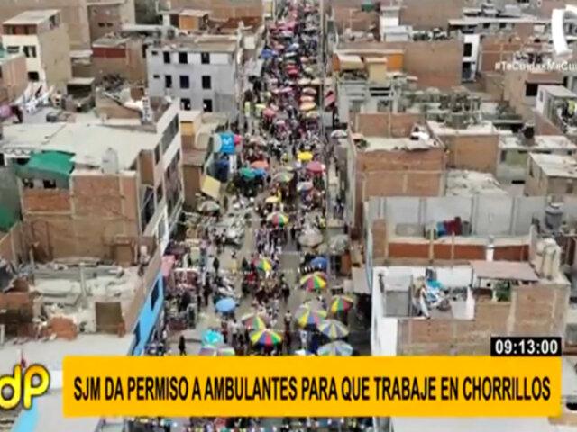 Municipalidad de SJM autoriza a ambulantes informales a vender en Chorrillos