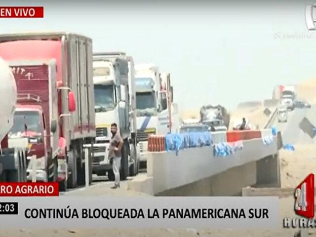No hay tregua: continúa bloqueo y protestas en la Panamericana Sur