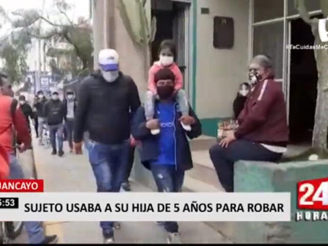 Huancayo: sujeto utilizaba a su hija de 5 años para robar