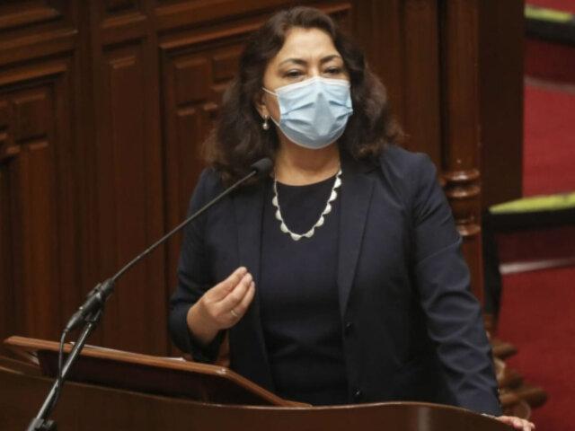 Congreso otorga voto de confianza al Gabinete presidido por Violeta Bermúdez
