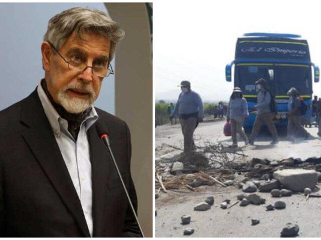 Sagasti sobre fallecido en Virú: No queremos que nadie muera por defender derechos laborales