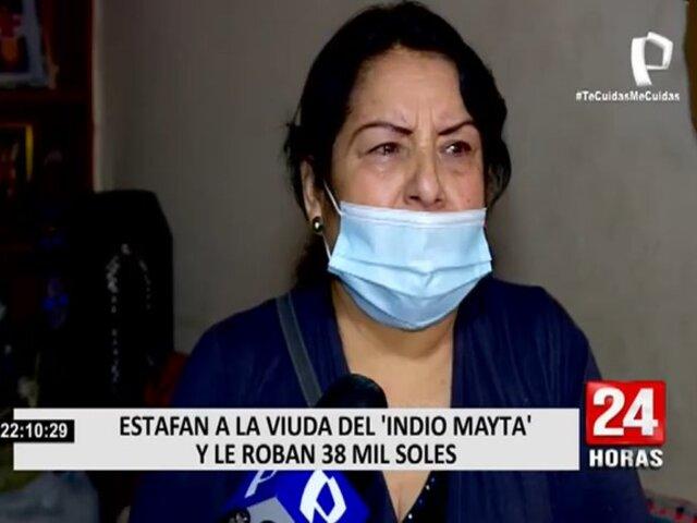 Indio Mayta: Viuda denuncia que la estafaron con 38 mil soles con el cuento de la lotería