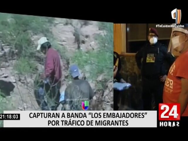 """PNP detuvo a banda criminal """"Los Embajadores"""" por tráfico de migrantes"""