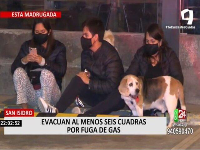 San Isidro: vecinos de Juan de Aliaga fueron evacuados por fuga de gas