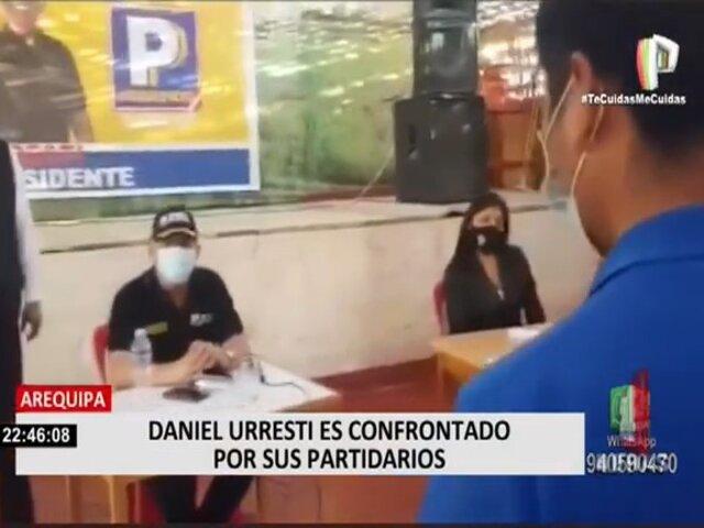 Arequipa: Daniel Urresti también fue confrontado por sus propios partidarios