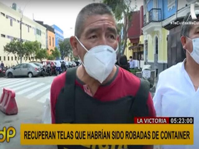 La Victoria: capturan presunto ladrón de telas valorizadas en medio millón de soles