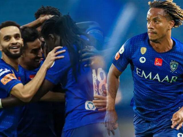 André Carrillo: Al Hilal goleó 3-0 en el torneo Saudi Professional
