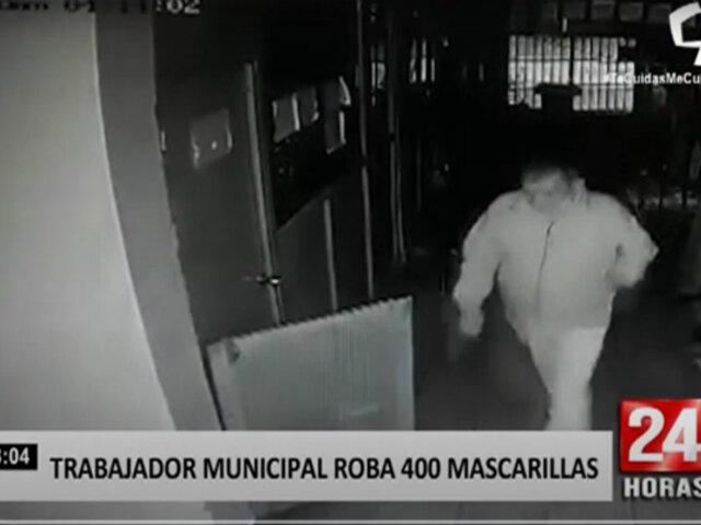Tumbes: cámaras identifican a trabajador municipal que robó 400 mascarillas