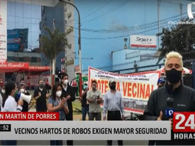SMP: vecinos protestan frente al municipio por falta de acciones contra la delincuencia