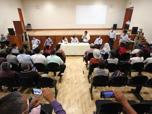 Comitiva del Ejecutivo llega a Ica para encontrar solución a  protestas de trabajadores agrarios