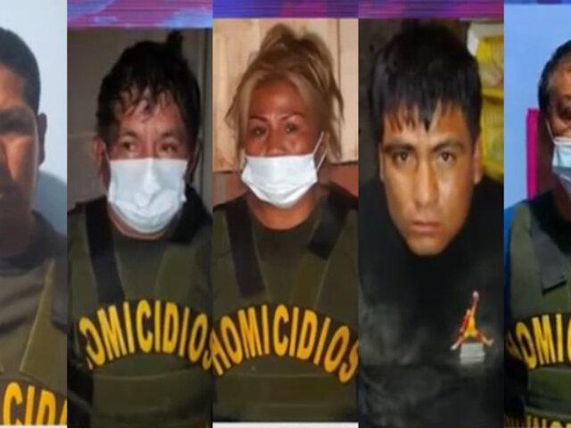 Policía desarticuló banda dedicada al tráfico de terrenos y sicariato