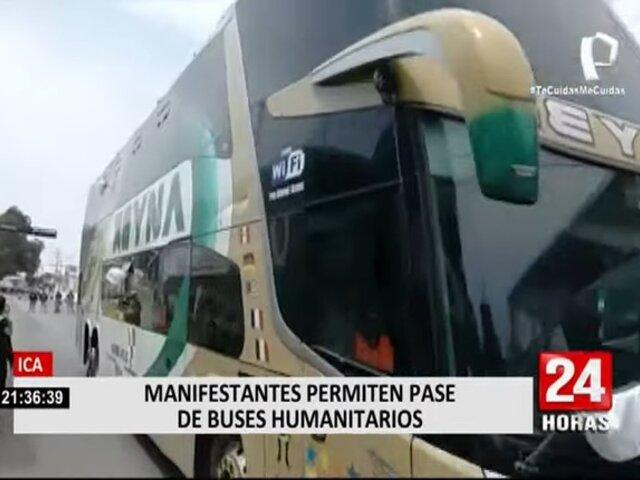 Ica: Así los manifestantes permitieron pase de buses con personas vulnerables