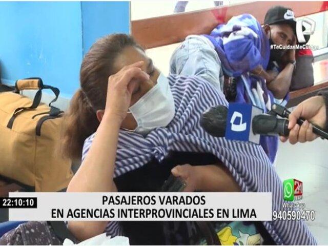Pasajeros llevan días varados en agencias interprovinciales en Lima