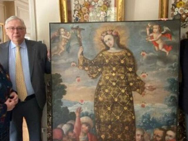 Ministerio de Cultura recuperó importante pintura colonial que fue llevada a Francia