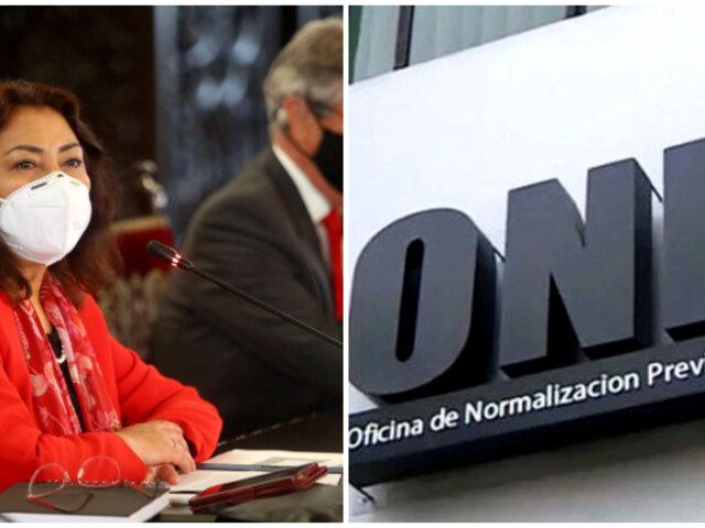 Caso ONP: presentan denuncia constitucional contra premier y ministro de Economía