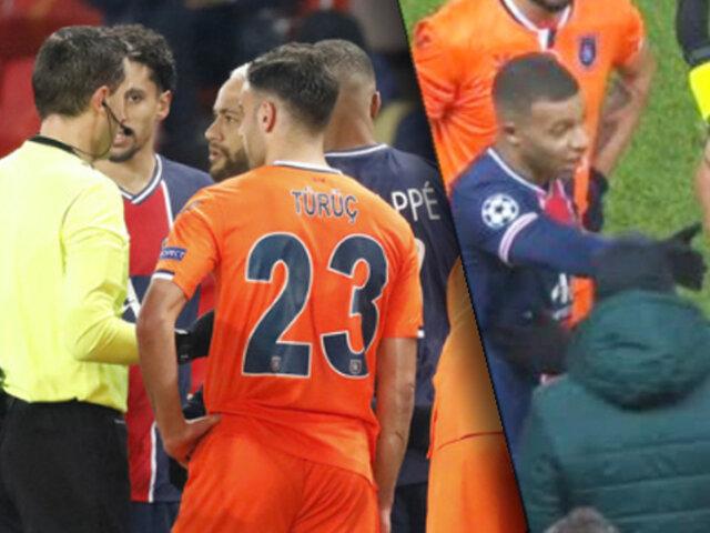 Suspenden el PSG vs. Basaksehir, tras un supuesto incidente racista
