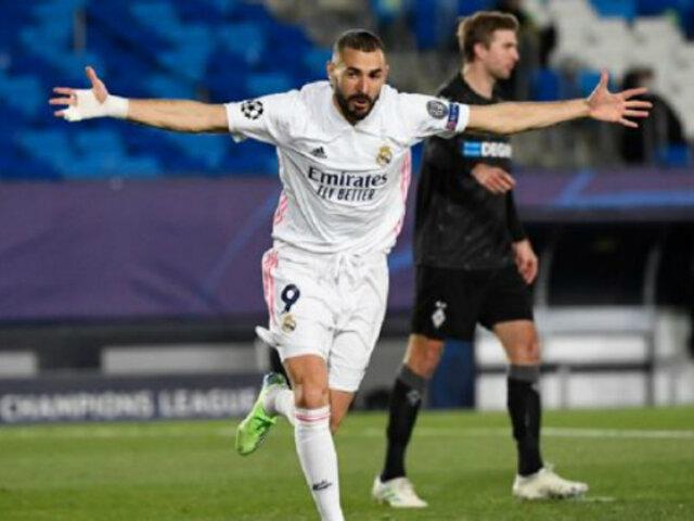 Champions League: Real Madrid vence 2-0 al Borussia M'gladbach y clasifica a octavos