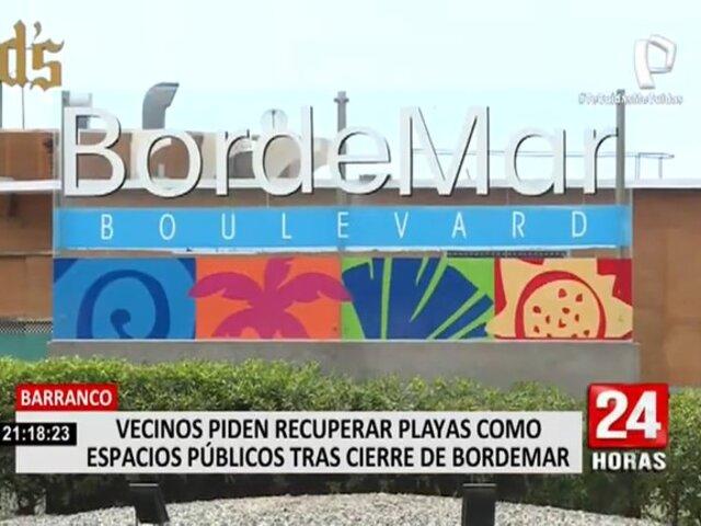 """Barranco: Vecinos piden recuperar playas como espacios públicos tras cierre de locales en """"Bordemar"""""""