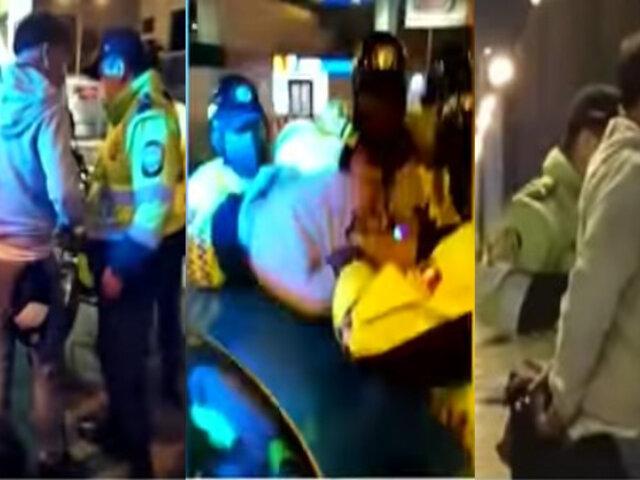 Surco: Policía y serenos capturan a peligroso raquetero tras persecución