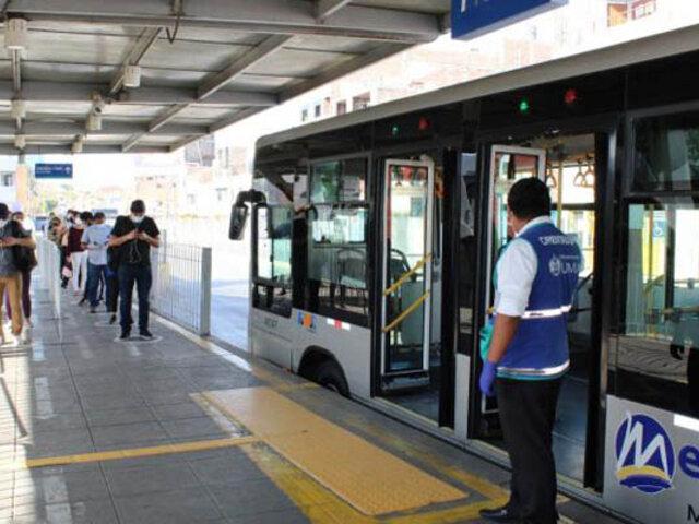 Nuevos horarios del Metropolitano, Línea 1 y corredores complementarios desde este sábado